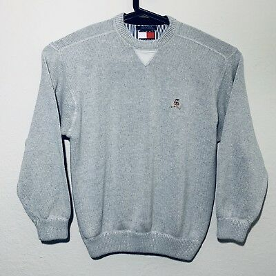 Vintage 90s Tommy Hilfiger Heavy Knitted Lion Crest Sweater Size Large