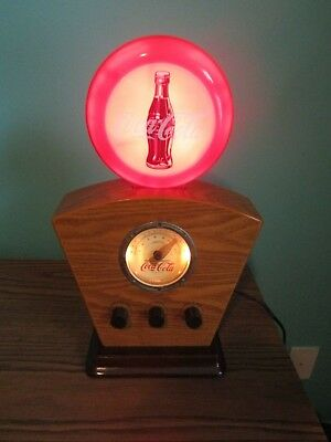 Vintage Coca-Cola Am/Fm Radio Works Perfectly Lights Up In Great Condition