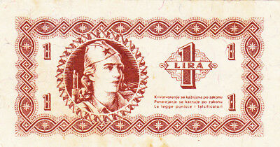1 Lira Fine Banknote From Slovenia 1945!partizan Army Issued!pick-?
