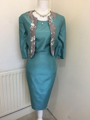 Beautiful Bnwt Anna Rose Mother Of The Bride/evening Dress And Bolero Size 10/12
