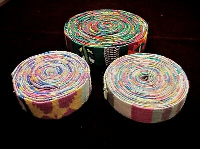 Lot of 3 Handwoven Guatemalan Cloth for Bands & Sashes - 20 yds. total