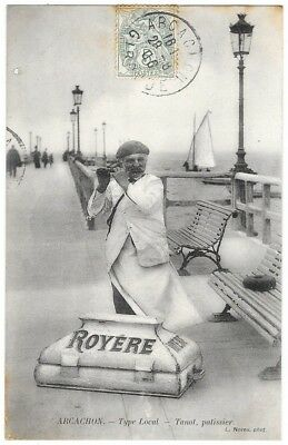 rare CPA - ARCACHON (Gironde) Type Local - Tanot, patissier (Royère) 1906 - TBE