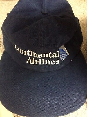 Continental Airlines cap of brush fabric - feels like suede. Adjustable back.