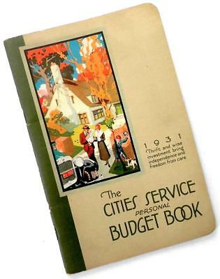 1931 The Cities Service (CITGO) Personal Budget Book—Koolmotor Gasoline & Oil