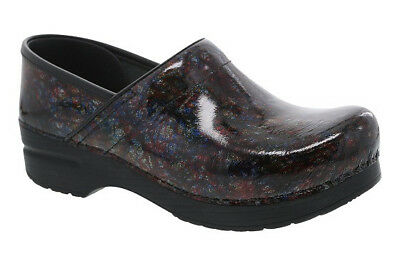 Dansko Women's Professional Multi Scribble Patent Sz 38 / Us 8M NEW