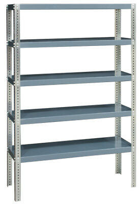 "Commercial Heavy-Duty 5-Shelf Steel Shelving 72"" H x 48"" W 3,000 lb. Capacity"