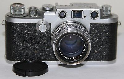 Nicca 3-F Knob Wind Body 35mm With 5cm f/2 Nikkor H.C Lens Body Just Serviced