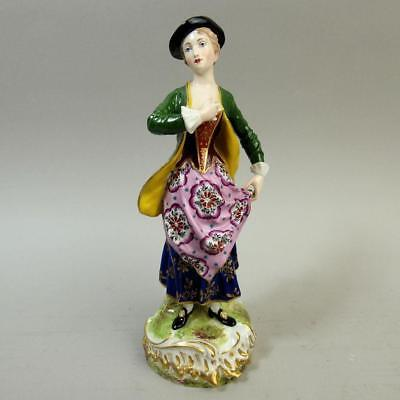 Antique Samson Derby Porcelain Figure Of A Lady C.1880