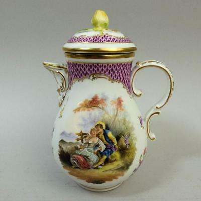 Antique Vienna Hand Painted Porcelain Coffee Pot C.1880