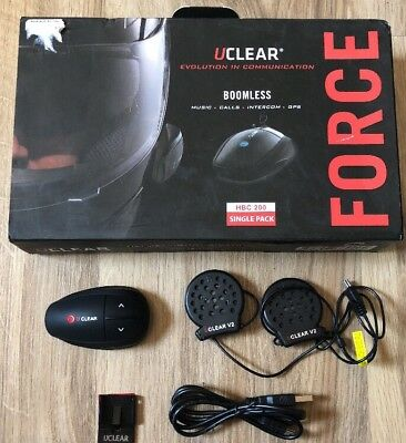 UCLEAR Digital HBC200 Single Pack Force Bluetooth Helmet Audio System
