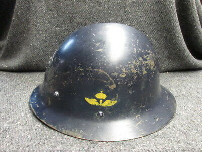 Pre Wwii Swedish Model 1921 Helmet W/ Air Force Insignia-Air Wing Unit Marked