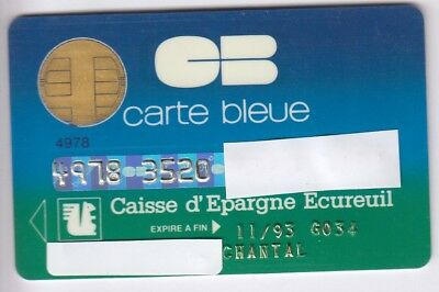 Carte / Card Banque Bank Credit .. Ancienne Old Cb Perime Cp8 Bull 91 Chip/puce