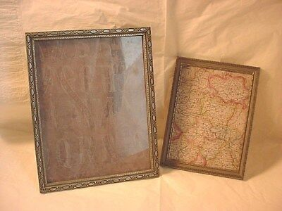 Ornate Wooden Antique Frames Silver tone 7 and 9 inch Lot of 2