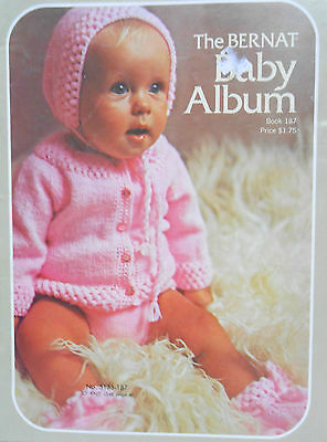 1972 Vintage BERNAT BABY ALBUM - 14 Outfits to Knit or Crochet   JF