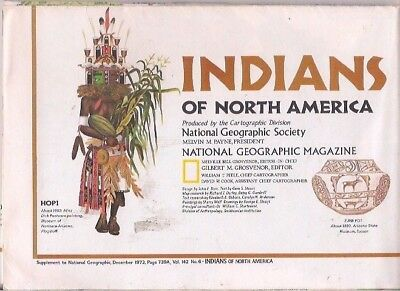 national geographic map-DEC 1972-INDIANS OF NORTH AMERICA.