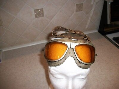 ORIGINAL,  Naval Aviation Mark IV Flying Goggles WITH HEAD STRAP