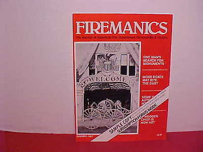 "Sample Copy Of ""firemanics"" Magazine Summer Of 1987-Mint Condition"