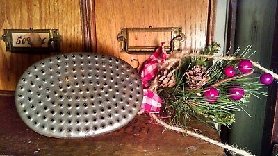 VINTAGE PRIMITIVE TIN GRATER + BONUS ALL IN ONE pat pending HAND HELD GRATER