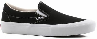 NEW Vans Slip-On Pro Toe-Cap Black/White