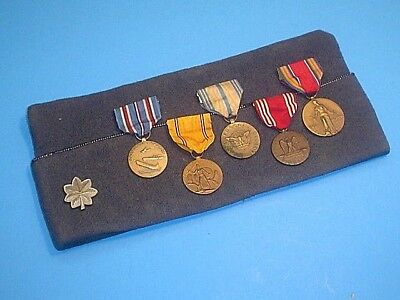 Wwii Medals On Cap