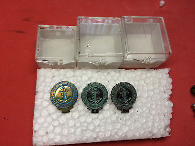 Vintage Anchor Motor Freight Trucking Co Safe Driving Award Pins 5, 6, 7, Years