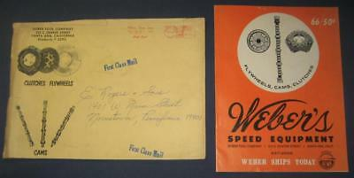 1966 Weber Speed Equipment Catalog Cams Clutches Vtg Brochure Santa Ana Ca