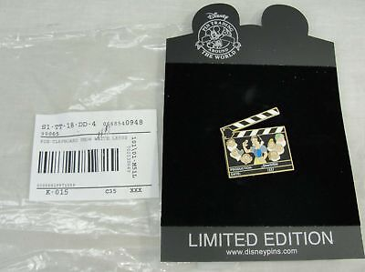 Disney Snow White Seven Dwarfs Le 500 Clapboard Pin Limited Edition W/package