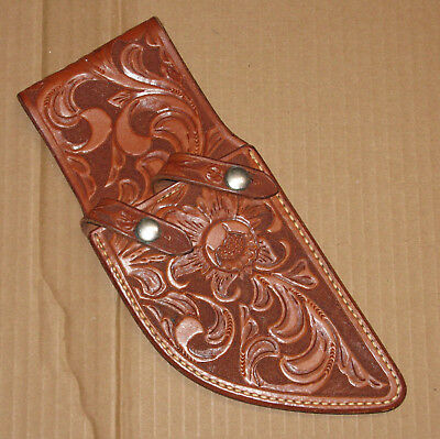 RARE vintage Randall Knives fully tooled twin set hunting knife sheath only