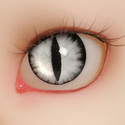 1/4 BJD Acrylic cat eyes  14mm - OMeta Half Round Acrylic Eyes (Gray 05)