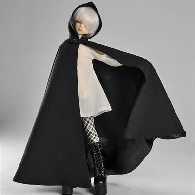 [Dollmore] 1/4BJD 43cm doll clothes MSD - Suri Suri Long Hood Cape (Black)