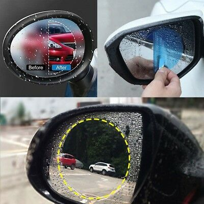 2Pcs Oval Car SUV Auto Anti Fog Rainproof Rearview Mirror Protective Film Kit