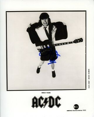 Angus Young AC/DC acdc 8x10 Photo Signed Autographed COA