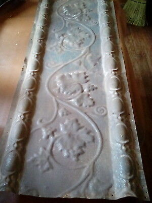 "Antique Tin Ceiling Panel 42"" X 16"" Architectural Salvage/gc/1890-1900's( #136)"