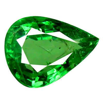 1.00 ct PRETTY PEAR CUT (7 X 5 MM) TANZANIAN GREEN TSAVORITE GARNET GEMSTONE