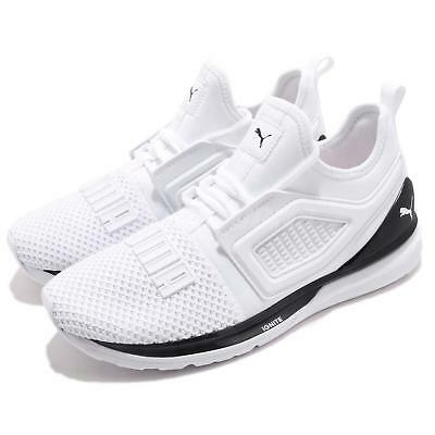 official photos 98380 efe1d Puma Ignite Limitless 2 White Black Men Running Training Shoes Sneaker  191293-04