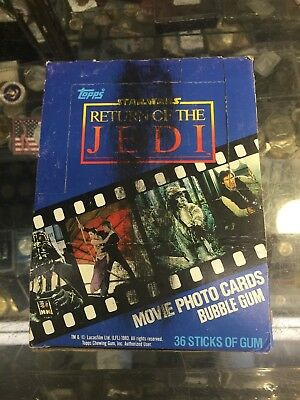 Box Of 1983 Stars Wars Return Of The Jedi Movie Cards,36 Packs,10 Cards Per Pack