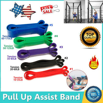 Latex Resistance Streching Band - Pull Up Assist Bands Extra Light Medium Heavy