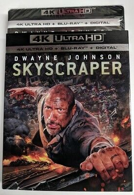 New Skyscraper 2018 4k ULTRA HD & Blu-ray NO DIGITAL BLUERAY action movie