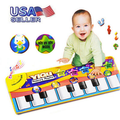 Children New Play Keyboard Musical Music Singing Gym Carpet Mat Kids Gift USA