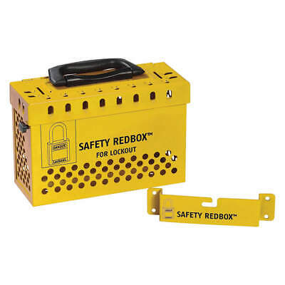 "CONDOR Group Lockout Box,Yellow,6-7/64"" H, 437R33, Yellow"