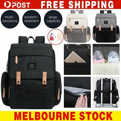 Large Waterproof Multifunctional Baby Diaper Backpack Changing Bag Nappy Mummy