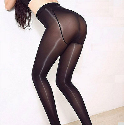 ec7b785e70da7 Women Satin Touch 8D 70D Tights High Gloss Shine Pantyhose Pantihose Crotch  Sexy