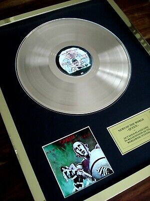 Queen News Of The World Lp 24Ct Gold Plated Disc Record Award Album