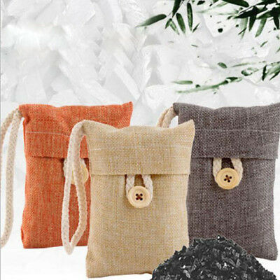 Car Air Purifying Bag Nature Fresh Style Charcoal Bamboo Purifier Mold Odor BS