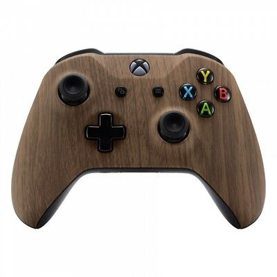 3f81302982acc Wood Grain Soft Touch Top Shell Faceplate Fix Parts for Xbox One X S  Controller