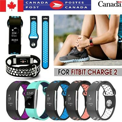 Sports Band Strap For Fitbit charge 2 Soft Silicone Bracelet smart wristbands CA