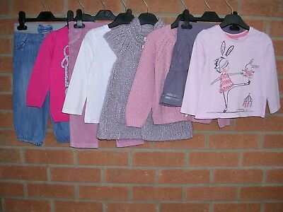 Mainly NEXT Girls Pink Lilac Bundle Tops Jeans Skirt Cardigan Age 12-18m