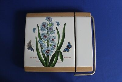 Portmeirion Botanic Garden - Eastern Hyacinth - Cheese Board + Wire Cutter - VGC