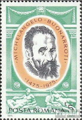 Romania 3256 (complete issue) unmounted mint / never hinged 1975 Michelangelo