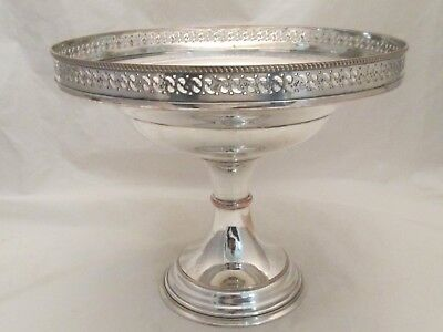 A Large Silver Plated Comport / Table Centrepiece / Bowl c1900